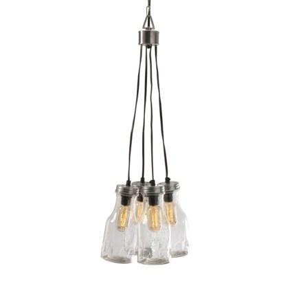 Cormack Glass Bottle Cluster Pendant Light
