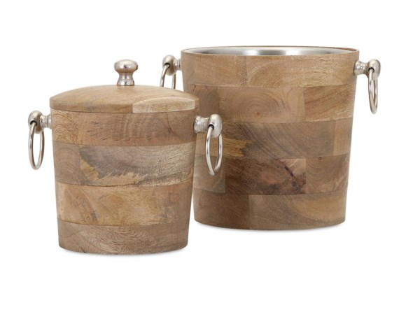 Makana Wood Bar Buckets - Set of 2