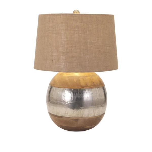 Nessa Wood And Metal Clad Lamp Table Lamps Imax