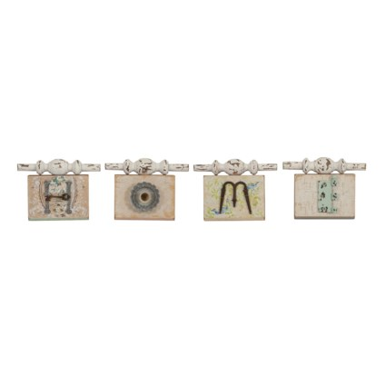 Ella Elaine Found Object Home Wall Plaques - Set of 4
