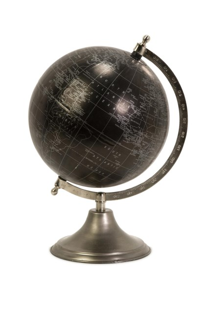 Moonlight Globe with Nickel Finish Stand