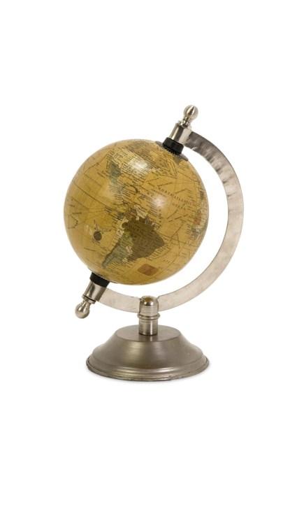 Colony Globe with Nickel Finish Base