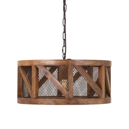 Kennedy Wood And Wire Pendant Light Chandeliers And