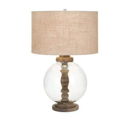 Mahin Wood and Glass Lamp