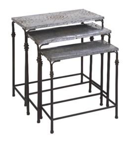 Gilbert Galvanized Nesting Tables - Set of 3