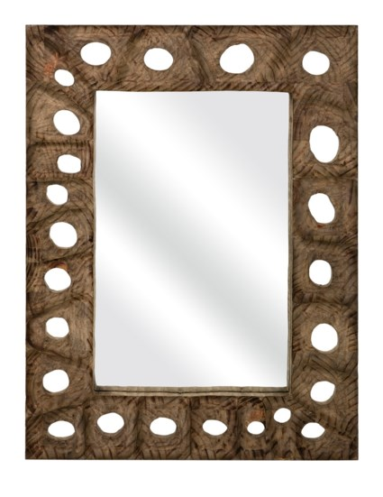 Aiden Carved Wood Mirror
