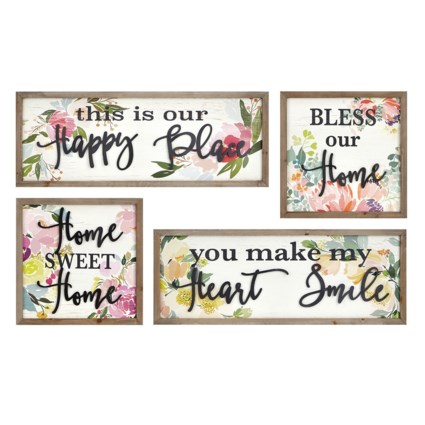 Hillary Wall Decors - Set of 4