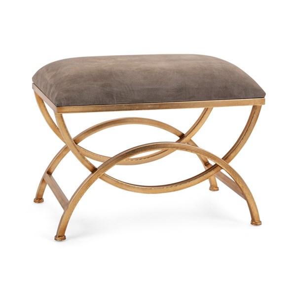 NK Minetta Suede Bench - Nk Furniture - IMAX Worldwide Home