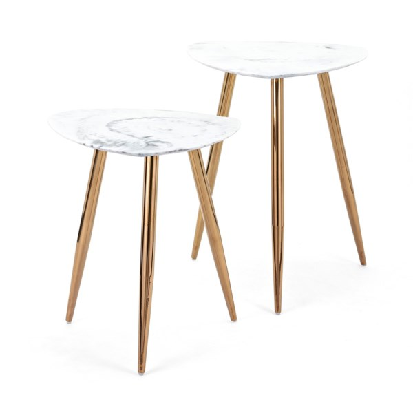 Presto Faux Marble Tables - Set of 2
