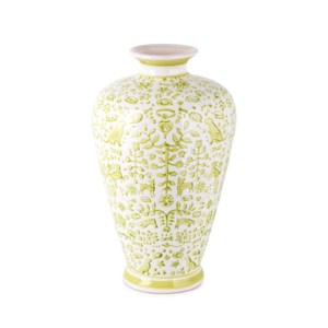 Otomi Lime Green Handpainted Vase