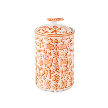 Otomi Cat Treat Handpainted Canister