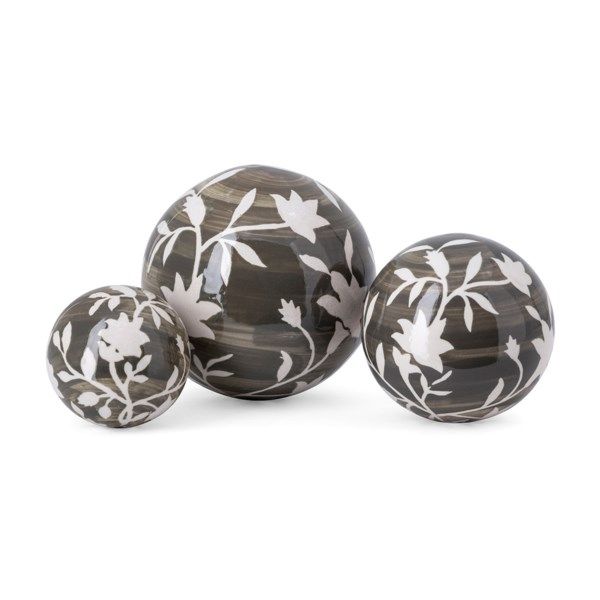 Roscoe Handpainted Deco Balls - Set of 3