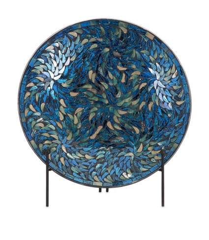 Peacock Mosaic Charger and Stand