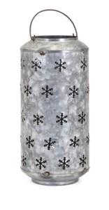 Homestead Christmas Large Metal Snowflake Lantern