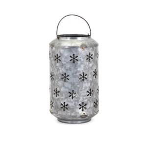 Homestead Christmas Medium Metal Snowflake Lantern