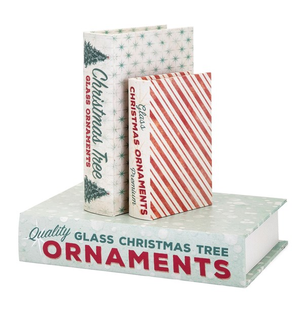 Homestead Christmas Vintage Book Boxes - Set of 3