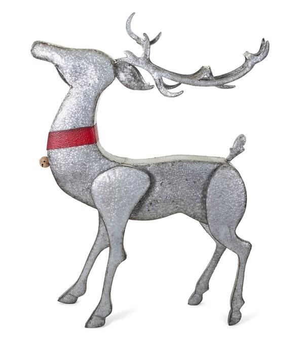 Homestead Christmas Standing Galvanized Reindeer