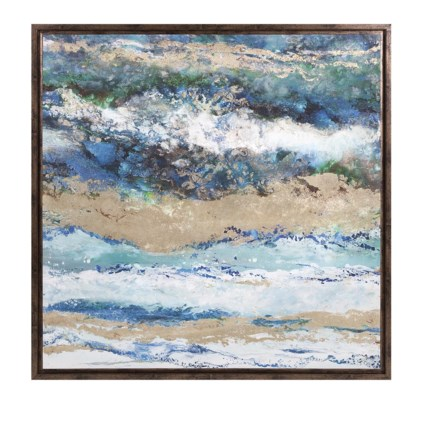 Seaside Waves Framed Canvas