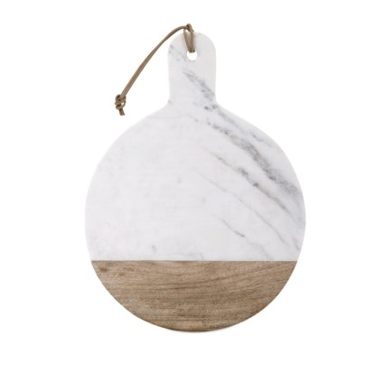 Peyton Marble and Wood Cheese Board