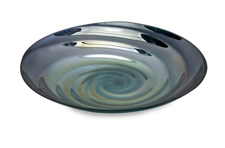 Moody Swirl Glass Charger