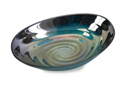 Moody Swirl Glass Bowl