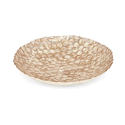 Gold Hex Glass Bowl
