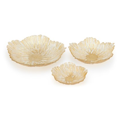 Calla Glass Chargers - Set of 3