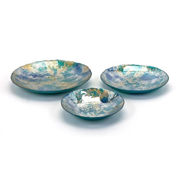 Athena Glass Chargers - Set of 3