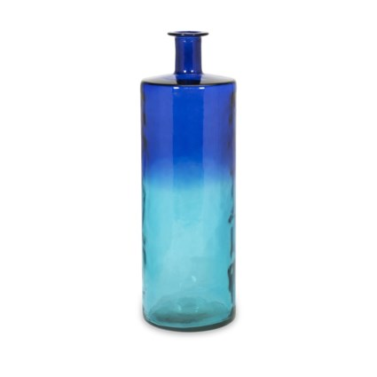 Luzon Tall Oversized Recycled Glass Vase Contemporary Coastal
