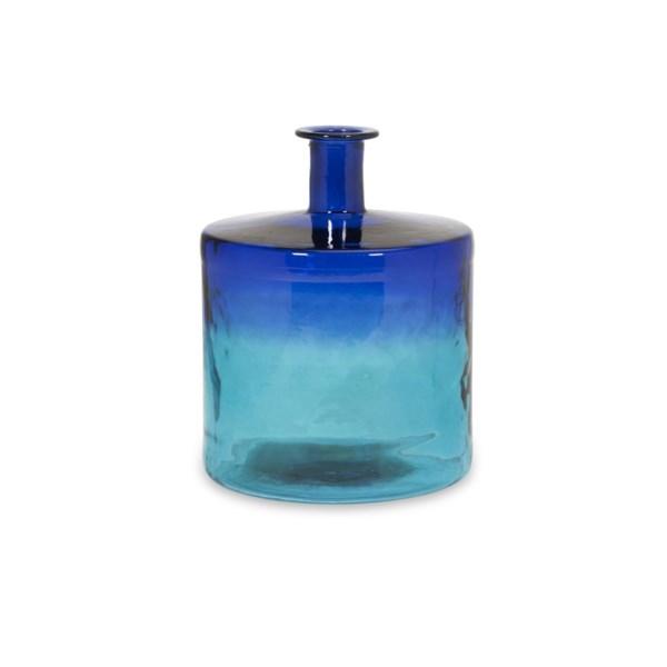 Luzon Short Oversized Recycled Glass Vase Contemporary Coastal