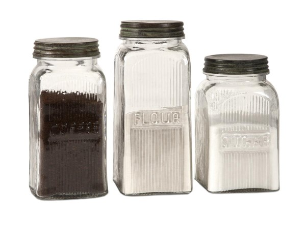 Dyer Glass Canisters - Set of 3