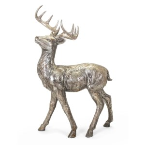 Silver and Gold Standing Reindeer