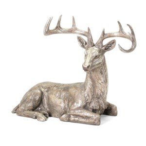 Silver and Gold Laying Reindeer