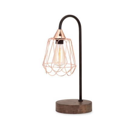 Tilton Copper And Wood Table Lamp Table Lamps Imax