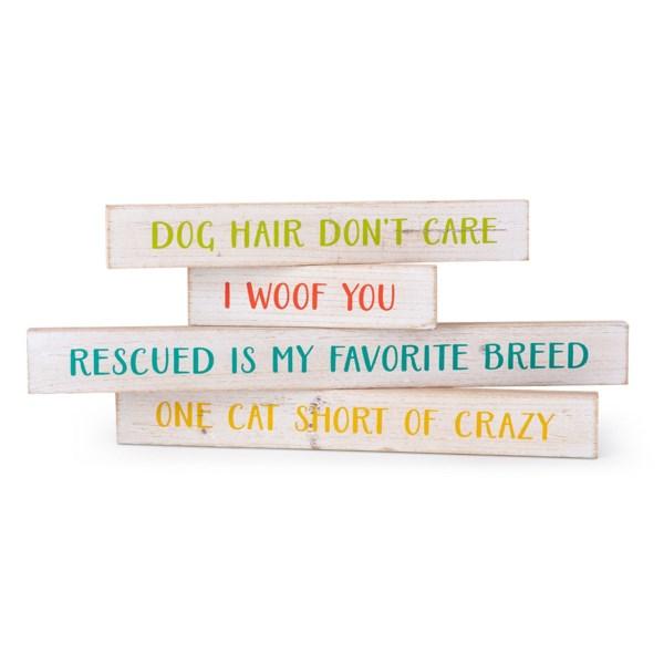 Pet Sayings Wall Decors - Set of 4