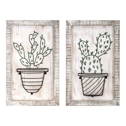 Cactus Framed Artwork W/Basket - Ast 2 - Wall Decor Sale - IMAX ...