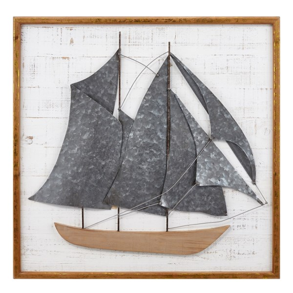Voyager Ship Wall Decor - New - IMAX Worldwide Home