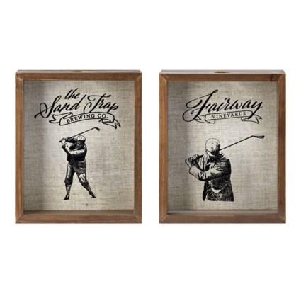 PGA TOUR Clubhouse Wine Cork and Bottle Cap Holder - Ast 2