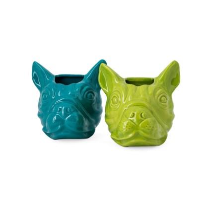Fido Ceramic Dog Wall Decor - Ast 2