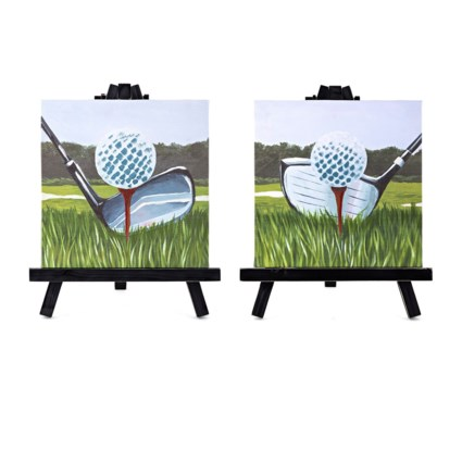 PGA TOUR Mulligan Printed Canvas with Easel - Ast 2