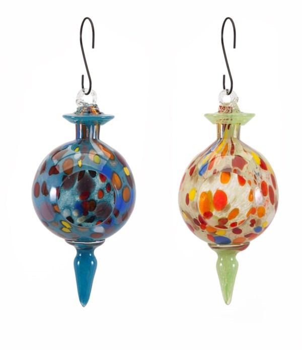 Aviary Glass Bird Feeders - Ast 2