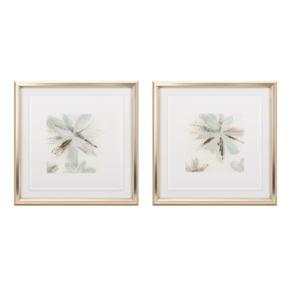 TY Floral Floating Acrylic Framed Wall Decor - Ast 2