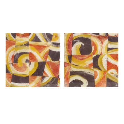 Fire & Slate Acrylic Floating Wall Art - Ast 2