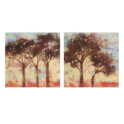 Kaleidoscope Trees Acrylic Floating Wall Art - Ast 2