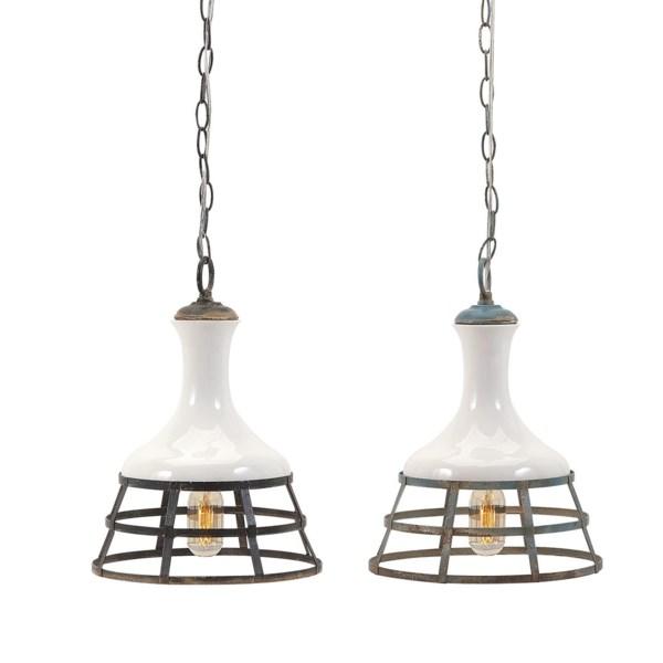 Sandra Ceramic And Metal Pendant Lights Ast 2