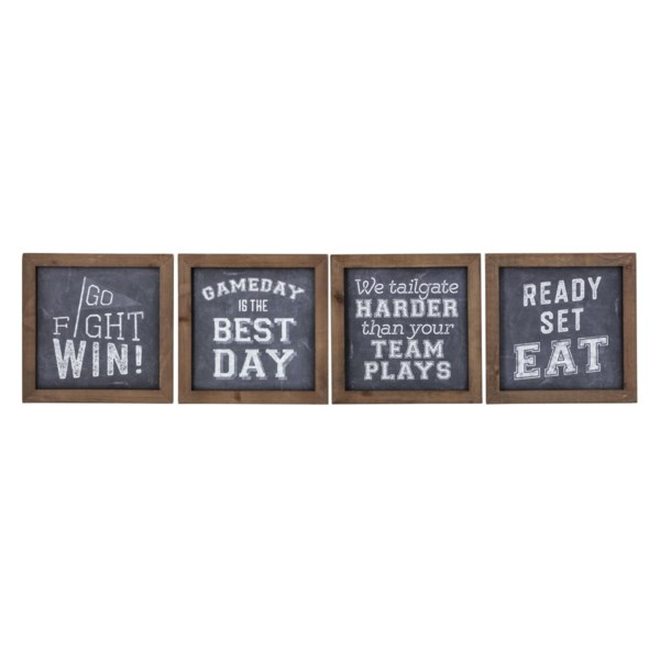 TY Tailgate Wall Art - Ast 4