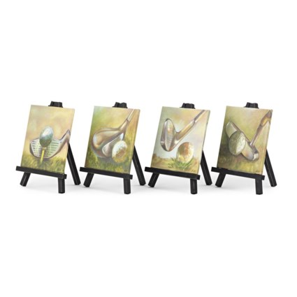 PGA TOUR Clubhouse Canvas & Easel in Gift Box - Ast 4