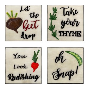 Whimsy Veggie Wall Decors - Ast 4