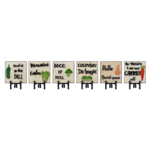 Veggie Wall Decors on Easels - Ast 6
