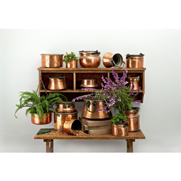 15-Piece Old Copper Planter Assortment